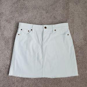 J.Crew Factory White Denim Skirt